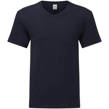 Vêtements Homme T-shirts manches courtes Fruit Of The Loom 61442 Bleu marine