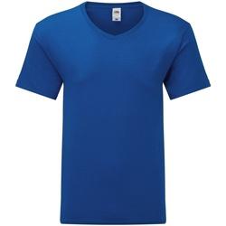 Vêtements Homme T-shirts manches courtes Fruit Of The Loom 61442 Bleu roi