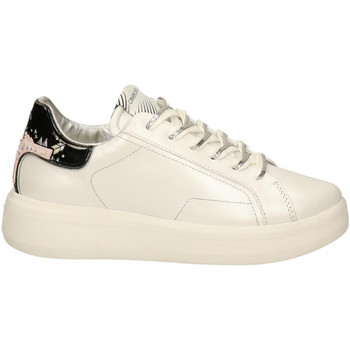 Chaussures Femme Baskets basses Crime London LOW TOP LEVEL UP white