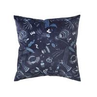 Maison & Déco Housses de coussins Broste Copenhagen BELL FLOWER Bleu nuit
