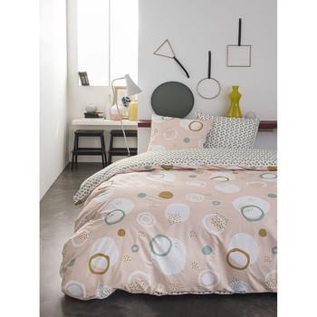 Maison & Déco Parures de lit Today Parure de housse de couette 260x240 coton PALASH Rose