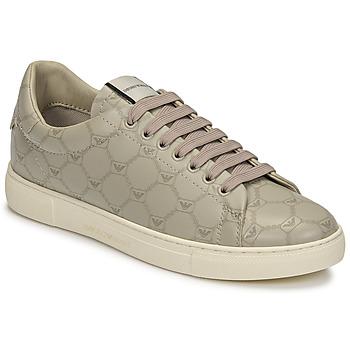 Chaussures Femme Baskets basses Emporio Armani DANSSE Beige / Blanc