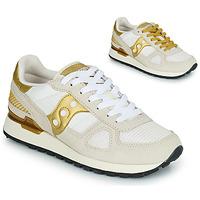 Chaussures Femme Baskets basses Saucony SHADOW ORIGINAL Blanc / Doré