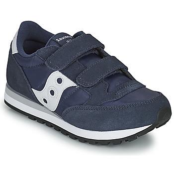 Chaussures Garçon Baskets basses Saucony JAZZ DOUBLE HL Marine / Blanc