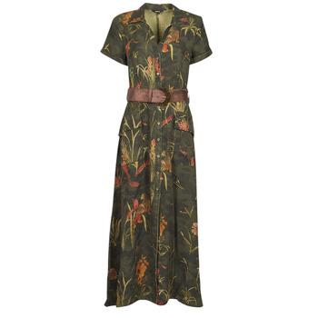 Vêtements Femme Robes longues Desigual AMSTERDAM Kaki