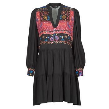 Vêtements Femme Robes courtes Desigual SOLSONA Noir