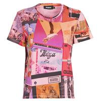 Vêtements Femme T-shirts manches courtes Desigual PROCLAIM Multicolore