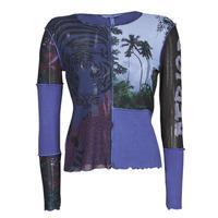 Vêtements Femme T-shirts manches longues Desigual PATCHAFRICA Bleu