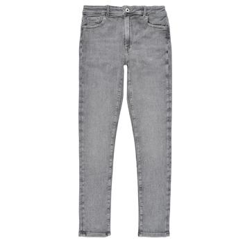 Vêtements Fille Jeans skinny Pepe jeans PIXLETTE HIGH Gris