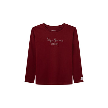 Vêtements Fille T-shirts manches longues Pepe jeans NURIA LS Rouge