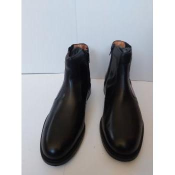 Chaussures Homme Boots Christian Pellet Bottines en cuir noir , doublure interieure en cuir , femeture s Noir