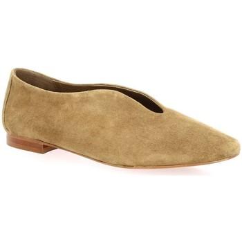Chaussures Femme Mocassins Sms Mocassins cuir velours Camel