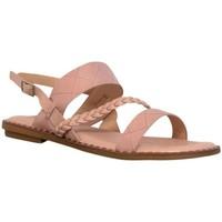 Chaussures Femme Sandales et Nu-pieds Kebello Sandales multibrides, talon plat Taille : F Rose 36 Rose