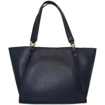 Sacs Femme Cabas / Sacs shopping Pourchet Sac à main  en cuir ref_pou41939 marine Bleu