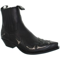 Chaussures Homme Boots Sendra boots Low Boots  Cuervo en cuir ref_sen41033-noir Noir