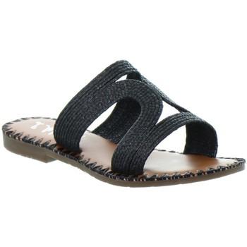 Chaussures Femme Mules L'atelier Tropezien Sandales Atelier Tropézien ref 52069 noir Noir