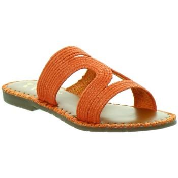 Chaussures Femme Mules L'atelier Tropezien Sandales Atelier Tropézien ref 52069 orange Orange