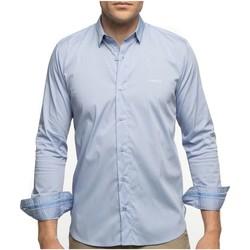 Vêtements Homme Chemises manches longues Shilton Chemise city classique manches longues Bleu ciel