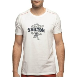 Vêtements Homme T-shirts manches courtes Shilton T-shirt rugby col rond ENGLAND Blanc