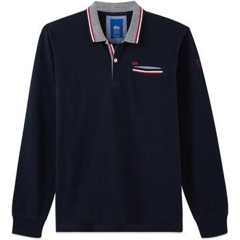 Vêtements Homme Polos manches longues TBS GALIAPOL Bleu marine