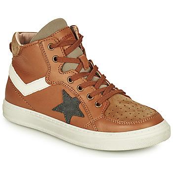 Chaussures Garçon Baskets montantes Bisgaard ISAK Cognac