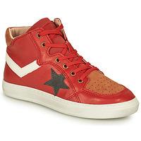 Chaussures Garçon Baskets montantes Bisgaard ISAK Rouge