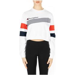 Vêtements Femme T-shirts manches longues Champion CREWNECK CROPTOP ww001-wht