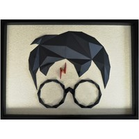 Maison & Déco Tableaux, toiles Polygone Origami Harry Potter Gris noir