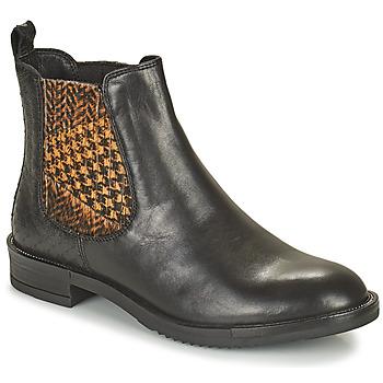 Chaussures Femme Boots Café Noir FRETINA Noir