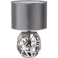 Maison & Déco Lampes à poser Retro Lampe céramique argenté Gris