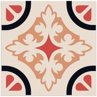 Maison & Déco Stickers Retro 6 stickers à carreaux de ciment 15 x 15 cm Beige