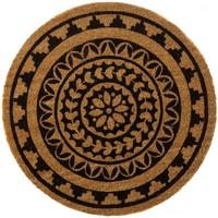 Maison & Déco Tapis Zen Et Ethnique Essuie-pieds Mandala rond diamètre 60 cm Marron