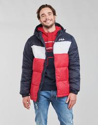 Vêtements Homme Doudounes Fila SCOOTER PUFFER JACKET Rouge / Marine / Blanc
