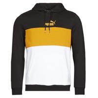 Vêtements Homme Sweats Puma ESS+ COLORBLOCK HOODIE FL Noir / Jaune
