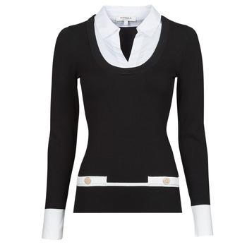 Vêtements Femme Pulls Morgan MFLO Noir / Blanc