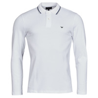 Vêtements Homme Polos manches longues Emporio Armani 8N1FB5 Blanc