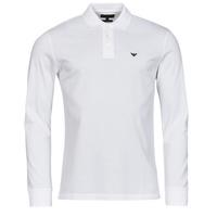 Vêtements Homme Polos manches longues Emporio Armani 8N1FQ0 Blanc