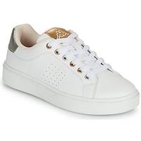 Chaussures Fille Baskets basses Kappa SAN REMO Blanc / Doré / Argenté