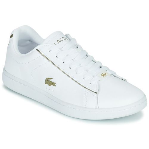 Chaussures Femme Baskets basses Lacoste CARNABY EVO 0721 3 SFA Blanc