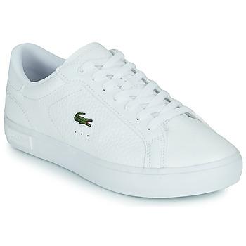 Chaussures Femme Baskets basses Lacoste POWERCOURT 0721 2 SFA Blanc