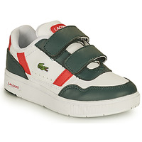 Chaussures Enfant Baskets basses Lacoste T-CLIP 0121 2 SUI Blanc / Vert / Rouge