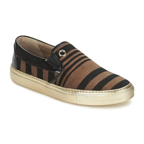 Chaussures Femme Slips on Sonia Rykiel STRIPES VELVET Noir / Marron