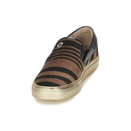 Sonia Velvet NoirMarron Slip Rykiel Stripes Femme Ons Chaussures n8N0mw