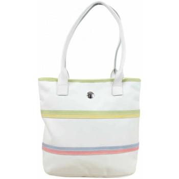 Sacs Femme Sacs porté épaule Texier Sac  toile nylon blanc motif bande / Fabrication France blanc