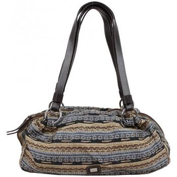 Sacs Femme Sacs porté épaule Patrick Blanc Sac épaule toile souple  PB7658 Bleu - Marron Multicolor