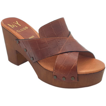 Chaussures Femme Mules My Clogs MY164 Marron
