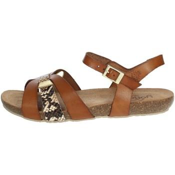 Chaussures Femme Sandales et Nu-pieds Yokono IBIZA-153 Marron cuir