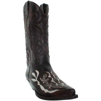 Chaussures Homme Bottes ville Sendra boots Bottes  Deborah en cuir ref_sen43410 Marron Marron