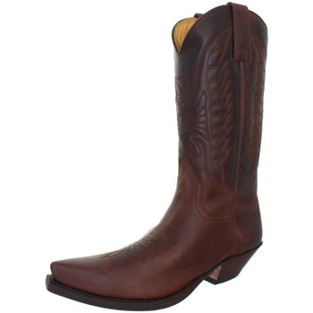 Chaussures Homme Bottes ville Sendra boots Santiags cuir ref_sen41029 marron Marron