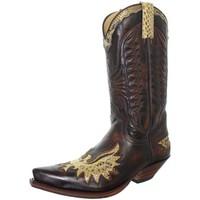 Chaussures Homme Bottes ville Sendra boots Santiags cuir ref_sen41030 marron Marron